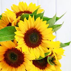 Wall Mural - Bouquet of sunflowers.