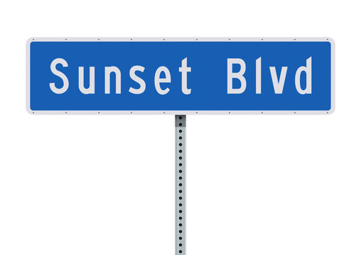 Sunset Boulevard road sign