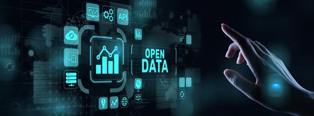 Open data database integration api internet technology concept. Wall mural
