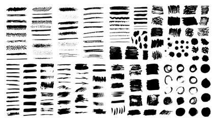 Dirty ink texture collection.
