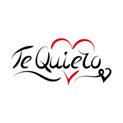 Love You on Spanish - lettering