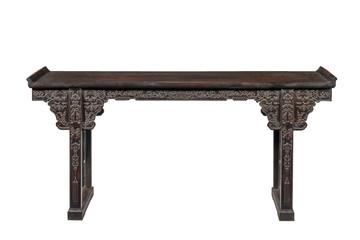 Chinese hardwood Alter table Fototapete