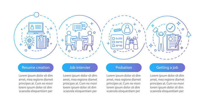 Job searching vector infographic template