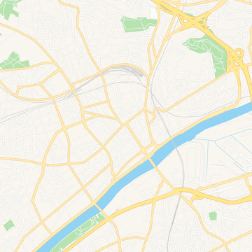 Argenteuil, France printable map