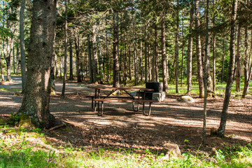 Seawall Campground in Acadia National Park in Maine, United States