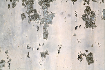 Grungy rusted metal wall surface.
