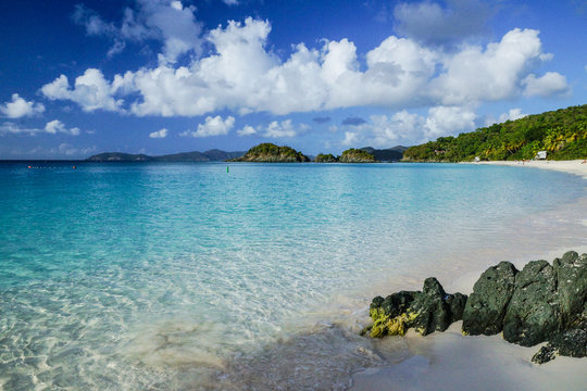 Trunk Bay in Virgin Islands National Park on the island of St. John, United States