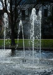 Four jet fountain