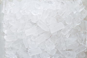 Top view picture surface of crushed ice.