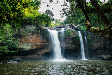 Heo Suwat Waterfall Khao Yai National Park Thailand