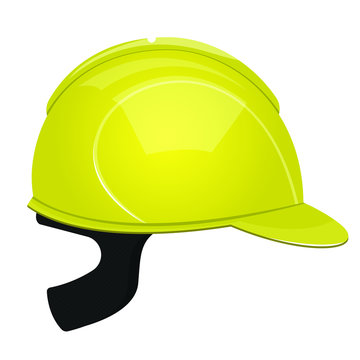 Protection helmet for construction vector design illustration isolated on white background