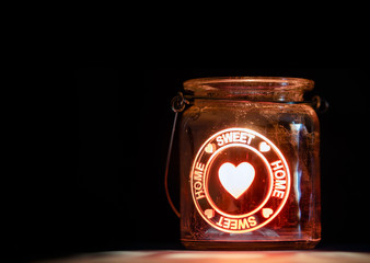Sweet Home Candle Jar