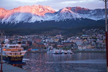 Ushuaia City Sunrise, Patagonia, Chile
