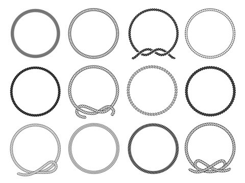 Round rope set, twisted round pattern for decoration