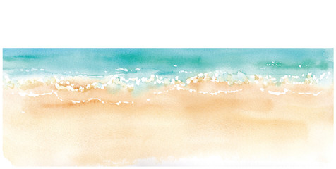 砂浜と水平線 トレースベクター