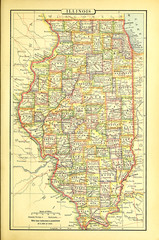 Old US state. Map