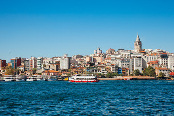 The view of the Golden Horn, Istanbul, Turkey