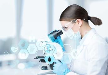 Fototapeta Analysis analyzing assistant bio biology biotechnology chemical obraz