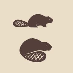 Beaver animal icon vector illustration