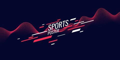 Modern colored poster for sports. Illustration suitable for design Fotoväggar
