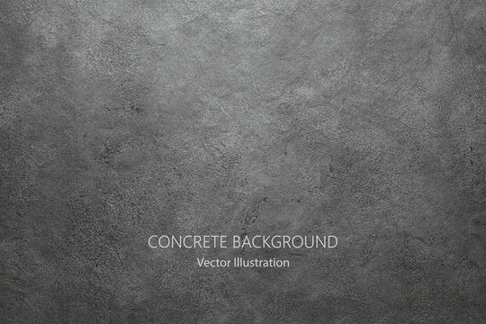 Vector gray concrete texture. Stone wall background.