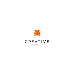 Head Fox Animal Creative Vector Logo Design
