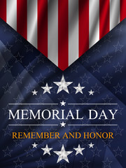 Memorial day background. National holiday of the USA. Vector illustration.