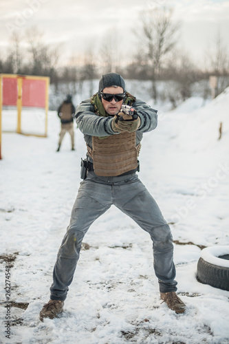 Military and army special forces soldier have combat