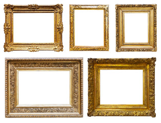 Set of luxury gold picture frames