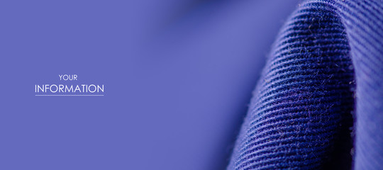 Blue fabric texture textile cloth material pattern blur background macro