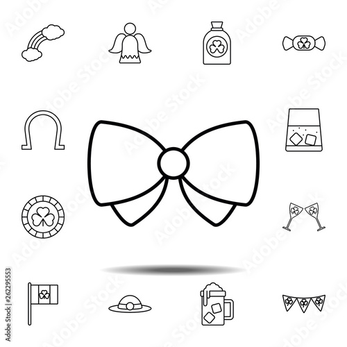 c4a965156752 Bow butterfly icon. Simple thin line, outline vector element of Saint  Patricks Day icons set for UI and UX, website or mobile application