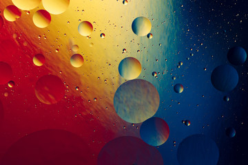 colorful gradient background and transparent bubbles, creative abstract background