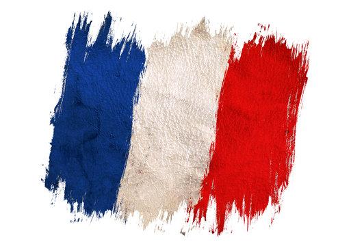 Vintage France flag.