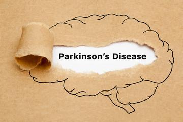 Parkinsons Disease Torn Paper Concept