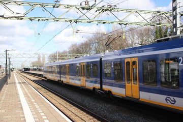 CAF Civity train at the trainstation of Den Haag Laan van NOI in the Netherlands