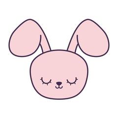 head of cute rabbit animal character