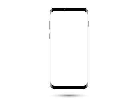 Smartphone on white background isolated vector illustration.