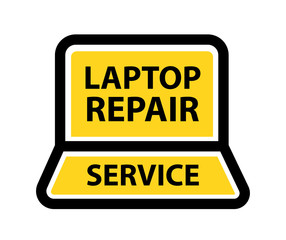 Logo for Laptop and Computer Repair Service.