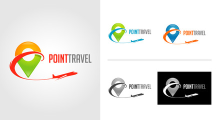 Point Travel Logo Template