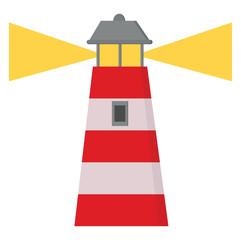 A cartoon lighthouse vector or color illustration
