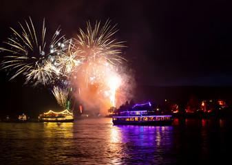 Firework over the rhine valley - Rhein in Flammen