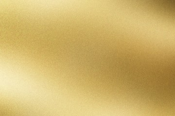 Abstract texture background, glowing golden stainless steel plate