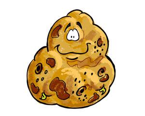 Potato cartoon illustration