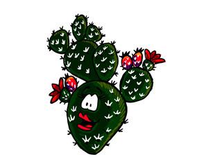 Nopal cartoon vector