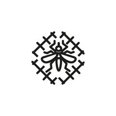 Mosquito trap line icon