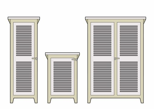 Louvered cabinets
