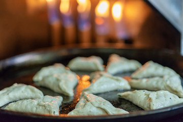 Fatayer stuffed with hyssop and cheese