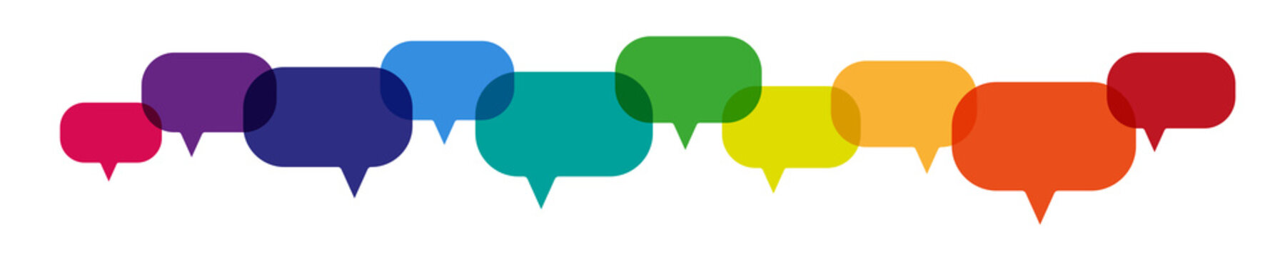 bunte farbige Sprechblasen Banner - Kommunikation Konzept