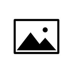 Picture vector icon, image symbol for graphic design, logo, web site, social media, mobile app, illustration