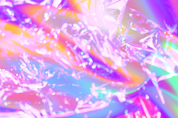 vaporwave style texture background: neon pink funky paint texture. Close up, flat lay.